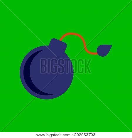 flat icon on stylish background dangerous bomb