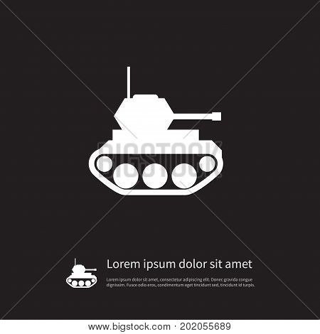 Battle Vector Element Can Be Used For Military, Tank, Battle Design Concept.  Isolated Military Icon.
