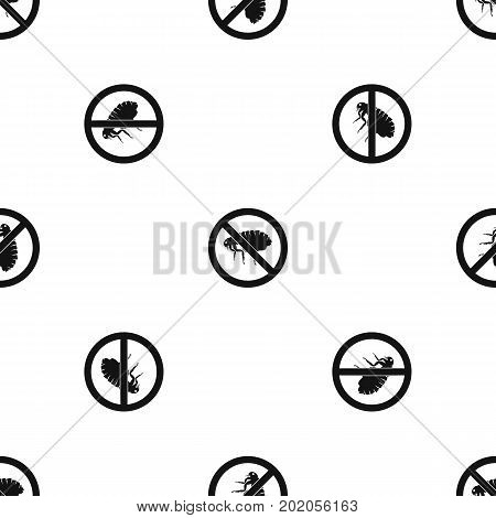 No flea sign pattern repeat seamless in black color for any design. Vector geometric illustration