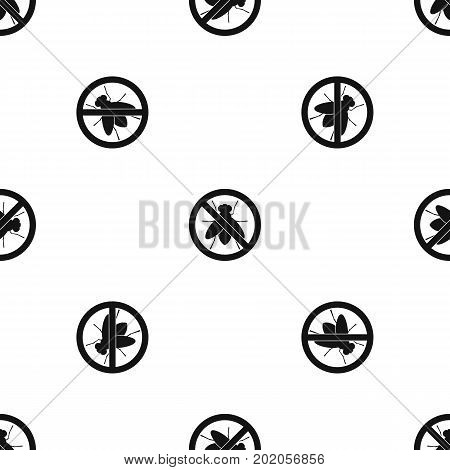 No fly sign pattern repeat seamless in black color for any design. Vector geometric illustration
