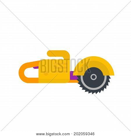circular saw, flat style, vector illustration, eps 10 file, easy to edit