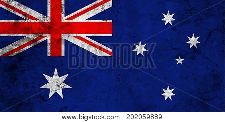Flag of the Australia against the background of the stone texture