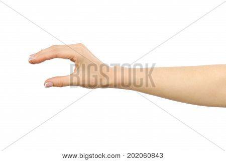 Woman's Hand Grabbing Or Measuring Something
