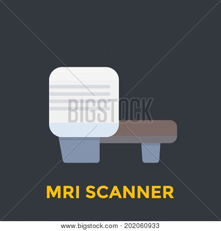 MRI scanner icon, eps 10 file, easy to edit