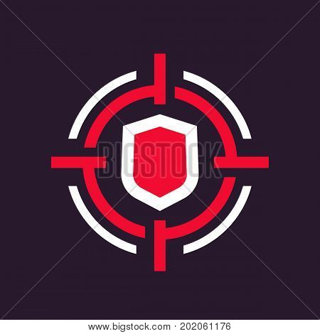 security breach icon, eps 10 file, easy to edit
