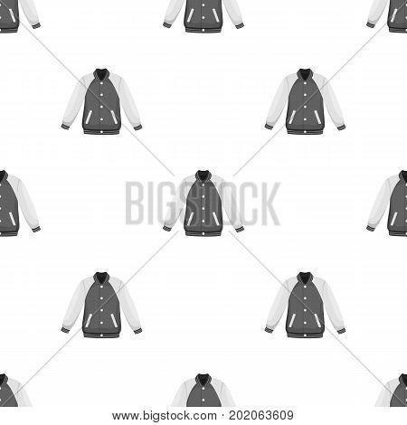 Uniform baseball jacket. Baseball single icon in monochrome style vector symbol stock illustration .