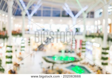 blured mall hall background design texture concept