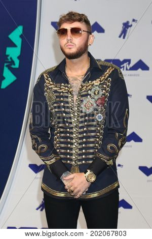LOS ANGELES - AUG 27:  James Arthur at the MTV Video Music Awards 2017 at The Forum on August 27, 2017 in Inglewood, CA