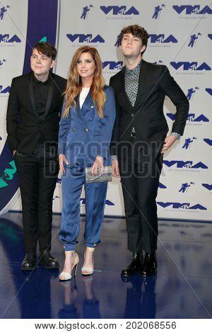 LOS ANGELES - AUG 27:  Graham Sierota, Sydney Sierota, Noah Sierota, Echosmith at the MTV Video Music Awards 2017 at The Forum on August 27, 2017 in Inglewood, CA