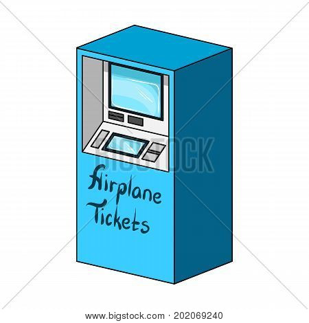 Terminal for aviation tickets. Terminals single icon in cartoon style isometric vector symbol stock illustration .