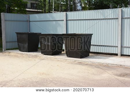 A waste container is a container for temporarily storing waste and is usually made out of metal or plastic. Some common terms are dustbin garbage can trash can and dumpster.