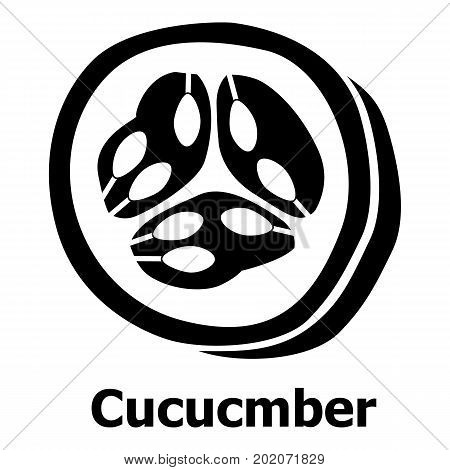 Cucumber icon. Simple illustration of cucumber vector icon for web