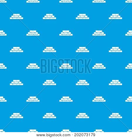 Brickwork pattern repeat seamless in blue color for any design. Vector geometric illustration