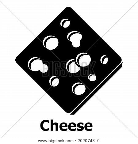 Sliced cheese icon. Simple illustration of sliced cheese vector icon for web