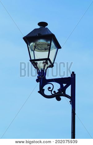 Street lighting. Lamp with led lighting with a specific design.