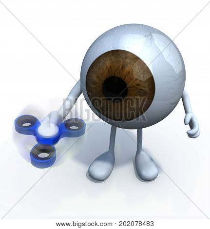 Eyeball With Arms And Legs That's Play With Fidget Spinner