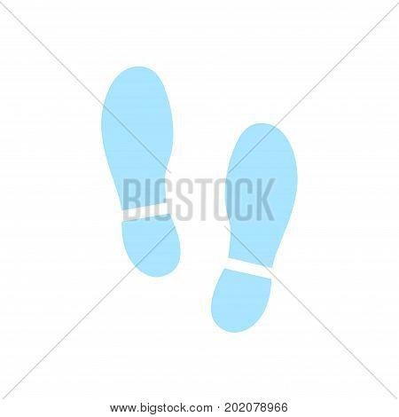 Imprint soles shoes icon. Flat design style.