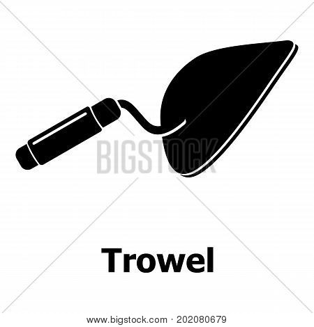Trowel icon. Simple illustration of trowel vector icon for web