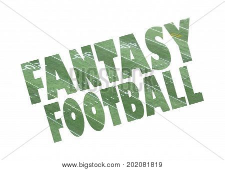 a fantasy football sign icon with slanted text