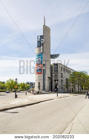 MONTREAL CANADA - MAY 28: Pointe a Calliere museum of architecture and history on May 28 2017 in Montreal Canada.