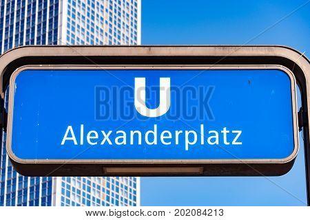 The Subway Station at the Alexanderplatz Berlin
