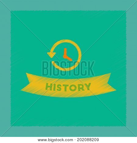 flat shading style icon of history lesson