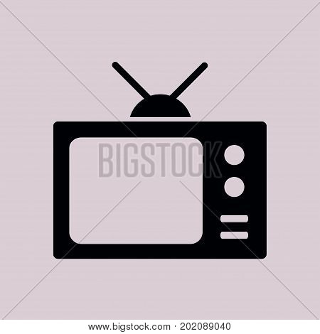 Tv icon. Flat design style. Icon of mass media.