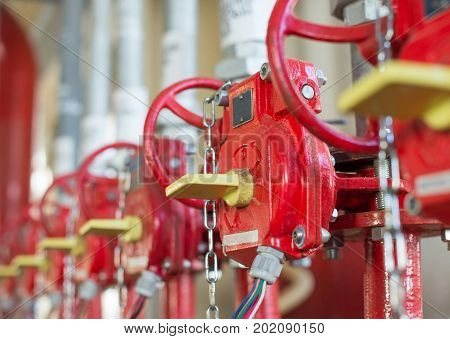 The Valve Of System Industrial Of  Fire Extinguishing.