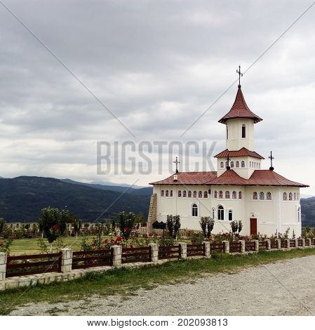 The Stefan cel Mare Monastery in the mountains Romania