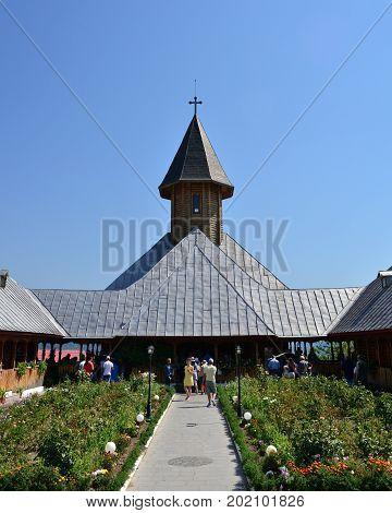 ORSOVA ROMANIA - 08.27.2017: saint ana monastery landmark architecture