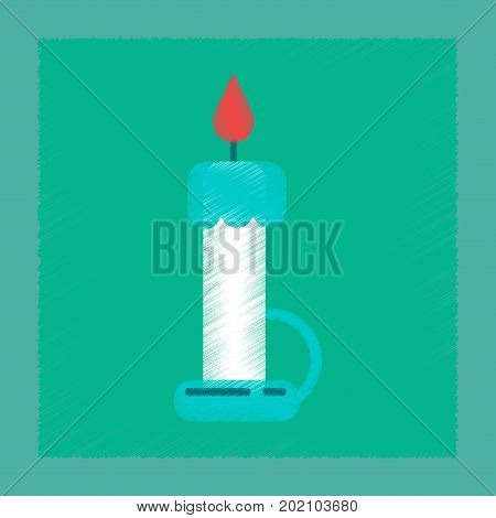 flat shading style icon of wax candle