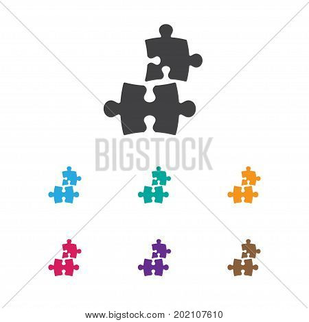 Vector Illustration Of Teach Symbol On Puzzle Icon