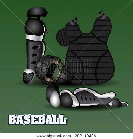 Baseball uniform set, Vector illustration eps 10