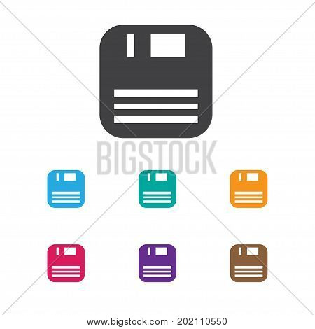 Vector Illustration Of Bureau Symbol On Floppy Disk Icon