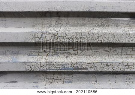 Metal Wall. Painted Corrugated Steel Wall