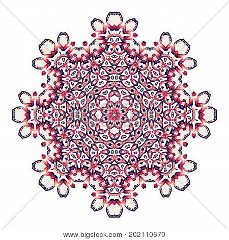 Mandala. Ethnicity round ornament. Ethnic style. Elements for invitation cards, brochures, covers. Oriental circular pattern. Arabic, Islamic, moroccan, asian, indian native african motifs.