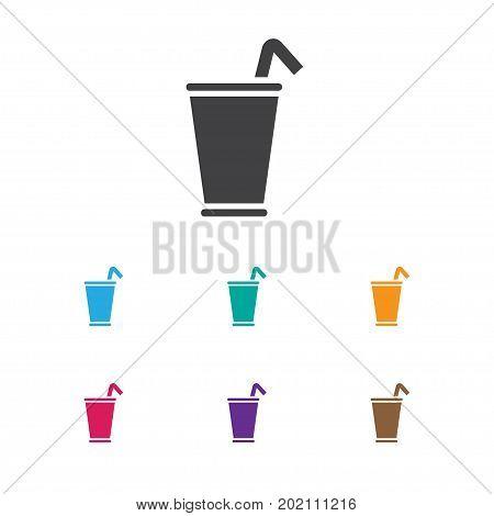 Vector Illustration Of Food Symbol On Milkshake Icon