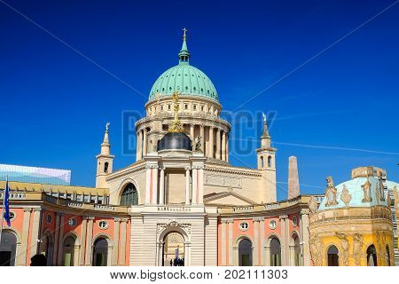 View on the St. Nicholas' Church in Potsdam Germany.