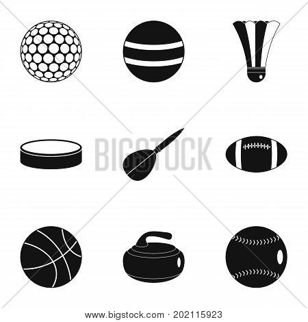 Play icons set. Simple style set of 9 play vector icons for web design