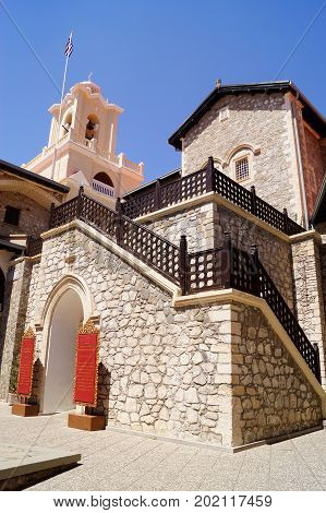 The Monastery of Kykkos in Troodos mountains Cyprus.