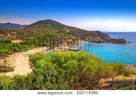 Su Portu Beach, Chia, Sardinia, Italy