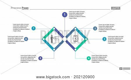 Two segment option chart with descriptions. Diagram, infographic, chart. Concept for business presentation, templates, annual report. Can be used for topics like business, management, education