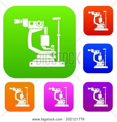 Phoropter set icon in different colors isolated vector illustration. Premium collection