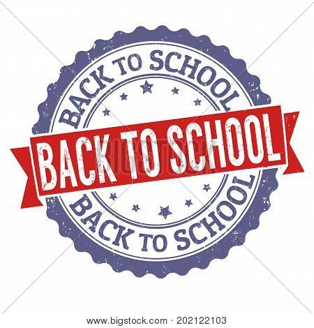 Back To School Sign Or Stamp