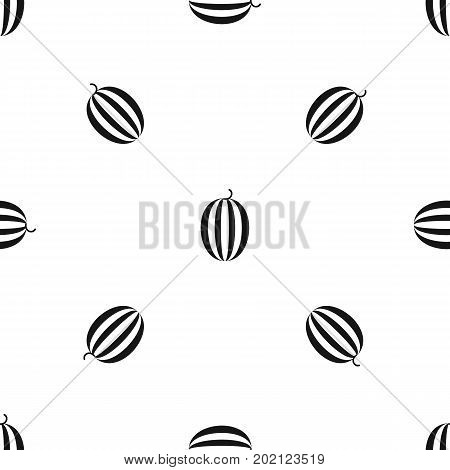 Striped melon pattern repeat seamless in black color for any design. Vector geometric illustration