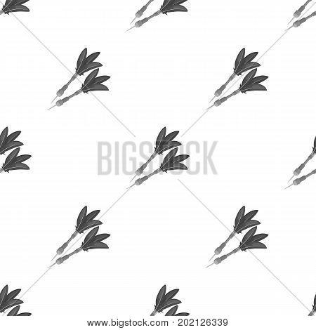 Darts for the wind gun.African safari single icon in monochrome style vector symbol stock illustration .