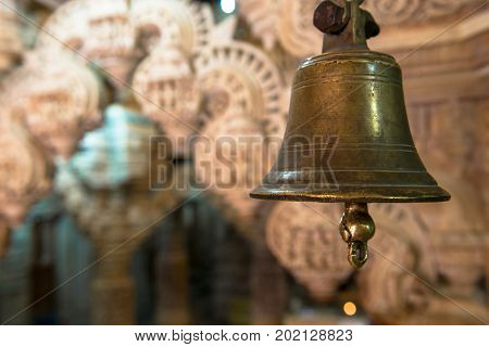 Bell inside the Jain Temples located in the Golden City of Jaisalmer in India.