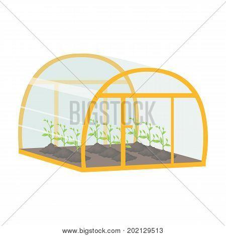 Greenhouse, single icon in cartoon style .Greenhouse, vector symbol stock illustration .