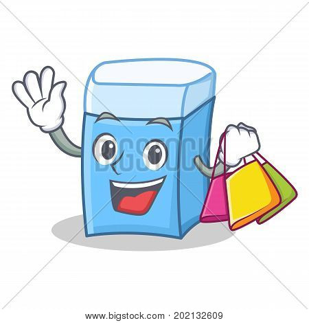 Shopping eraser character mascot style vector illustration