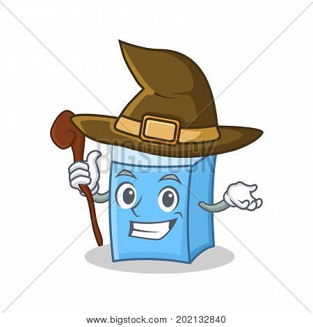 Witch eraser character mascot style vector illustration